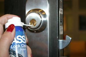 lubricating a lock